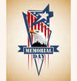 memorial day card vector image