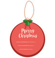 merry christmas notepad in round shape vector image vector image