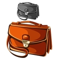 Modern leather briefcase business man vector image vector image