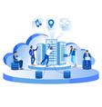modern network data center hosting servers banner vector image