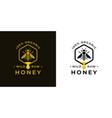 organic honey logo badge vector image