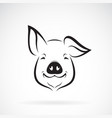 pig head design on white background farm animals vector image vector image