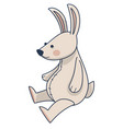 plush bunny with long ears rabbit stuffed toy vector image vector image