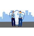 police officers man and woman in uniform vector image vector image