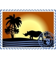 Postage stamp Savannah vector image