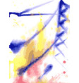 power support painted in watercolor vector image vector image