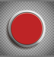 red button template isolated on transparent vector image