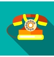 Retro telephone icon flat style vector image