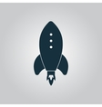 Rocket Icon sign and button vector image vector image