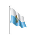 san marino flag on a white vector image
