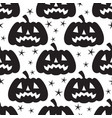 seamless halloween pattern with black pumpkins vector image vector image