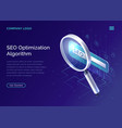 seo search engine optimization algorithm concept vector image vector image