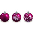 set christmas balls isolated decorative toys vector image vector image