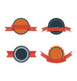 set of flat badges vintage badge labels vector image