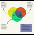 simple infographics vector image vector image