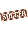 soccer square grunge stamp vector image vector image