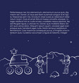 space rover and astronaut vector image vector image