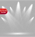 spotlights scene light effects vector image