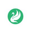 swan logo template icon vector image