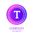 t letter logo design t icon colorful and modern vector image
