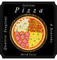 the sweet pizza vector image vector image