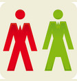 toilet symbols male and female gender vector image