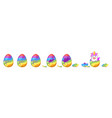 unicorn hatch animation from egg vector image vector image