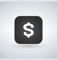 us dollar icon on black application button vector image vector image