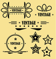 vintage elements vector image vector image