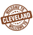 welcome to cleveland vector image vector image
