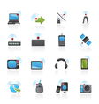 wireless and technology icons vector image vector image