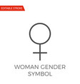 woman gender symbol icon vector image