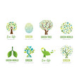 world environment day go green concept design vector image vector image
