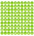 100 joy icons set green vector image vector image
