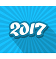 2017 hand drawn blue color text vector image