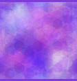 abstract purple mosaic pattern with grunge effect vector image vector image
