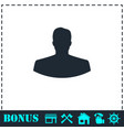 avatar icon flat vector image