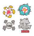 bang cartoon effect with small explosion and vector image vector image