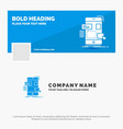 blue business logo template for drag mobile vector image