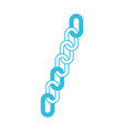 blue color silhouette of long chain link icon vector image