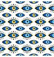 blue evil eyes symbols talismans pattern vector image vector image