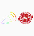bright dot megaphone sound icon and vector image vector image