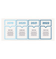 business infographics with 4 steps options vector image vector image