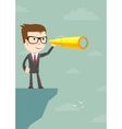 Businessman looking for business future vector image vector image