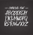 charcoal trendy cute font messy unique type vector image