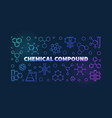 chemical compound colorful outline vector image