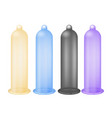 colorful latex condoms isolated icon vector image