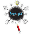 concept pencil idea isolate write blue strategy vector image vector image