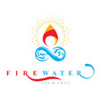 continuous harmony between water and fire nature vector image vector image