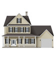 countryside private house vector image